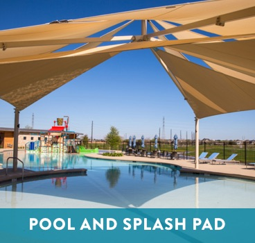 Pool and Splash Pad at Cane Island in Katy, TX